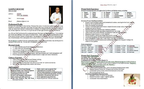 Personal Chef Sle Resume by Chef De Partie Resume