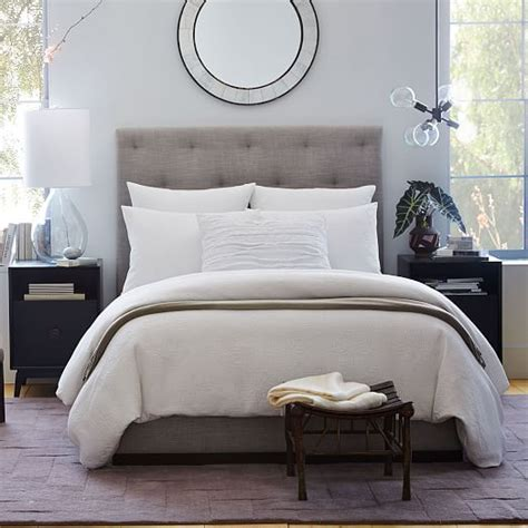 west elm diamond tufted headboard diamond tufted plinth bed west elm