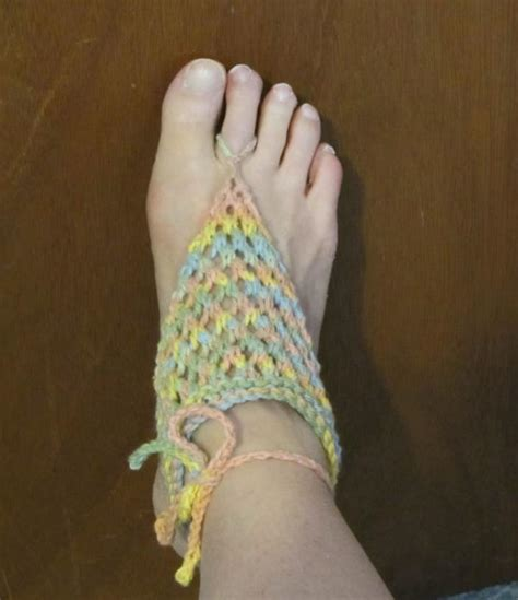 knitted barefoot sandals pattern more knit barefoot sandals