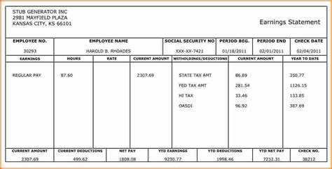 7 Make Pay Stubs Templates Free Simple Salary Slip Make A Pay Stub Template