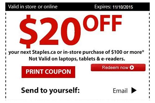 staples in store coupon 20