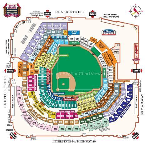 busch stadium seating chart