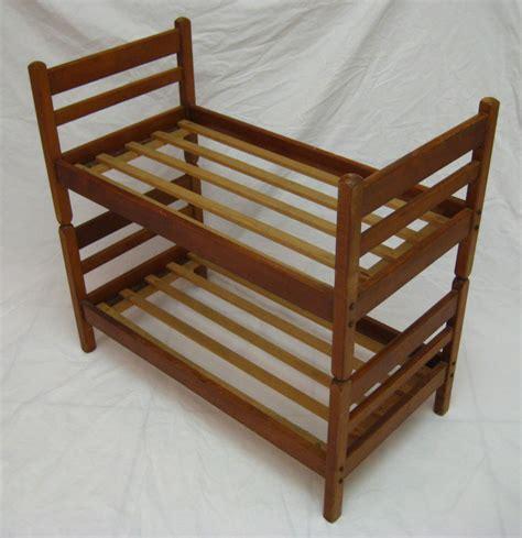 Antique Bunk Bed Antique Vintage Wooden Doll Bunk Bed Bed Set Ebay