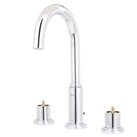 grohe grandera 8 in widespread 2 handle high arc bathroom faucet in polished chrome 20419000 grohe atrio 8 in widespread 2 handle high arc bathroom