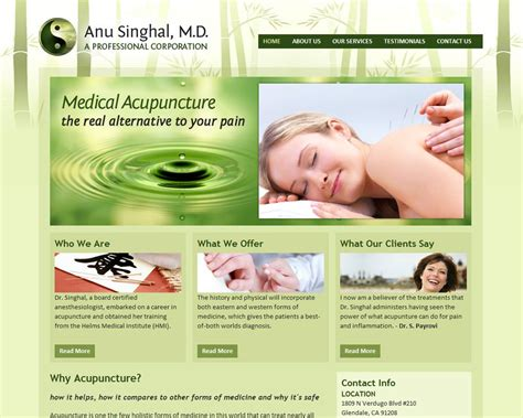 Acupuncture Website Google Search Web Design Pinterest Acupuncture Acupuncture Website Template Free