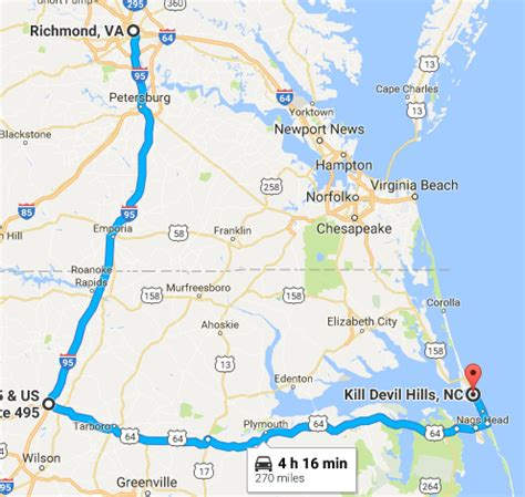 how to avoid the traffic on your drive to the outer banks