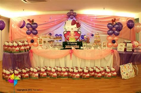 how to decorate for a birthday party at home backdrop cake candy table decor setup for a hello