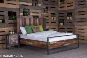 lit 2 places industriel en bois recycl 233 de b a r a k 7