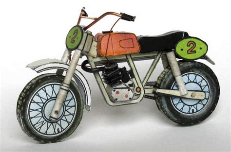 motocross bike free papercraftsquare com paper craft motocross bike free