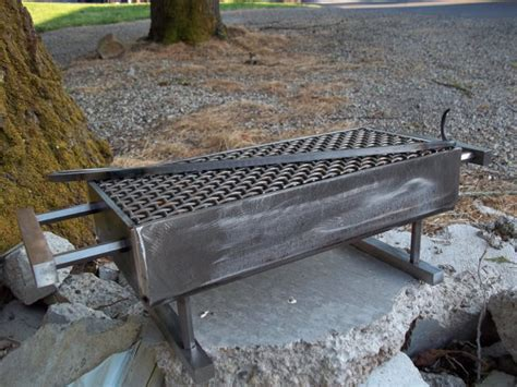 Handmade Grill - custom made steel hibachi grill with food turner