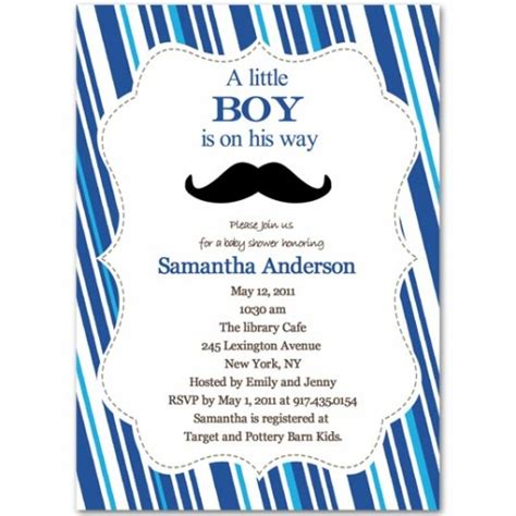 Baby Shower Invitation For Boy by Cheap Mustache Baby Shower Invitations Baby