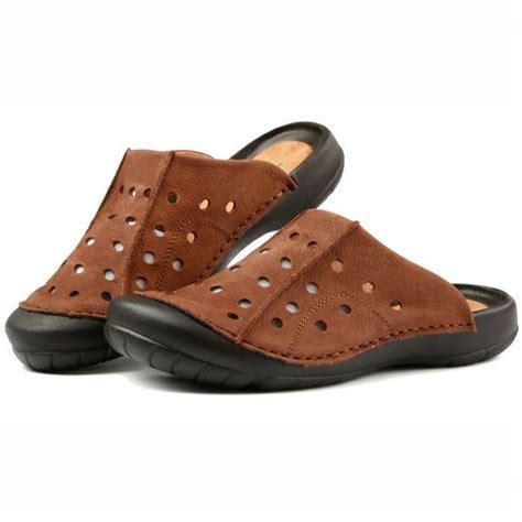 mens closed toe slide sandals us6 10 suede leather casual hollow slides sandal fashion