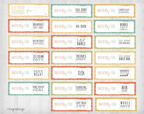 coupon book template for boyfriend printable coupons for him instant idealpin