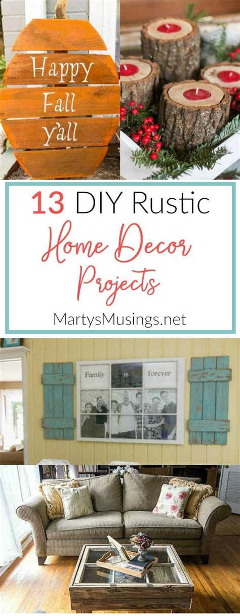 diy projects home decor 13 diy rustic home decor projects marty s musings