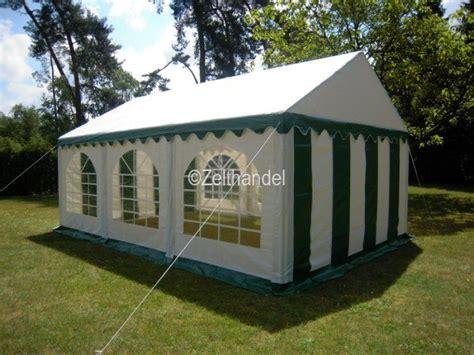 pavillon regenfest partyzelt festzelt pavillon zelt 3x6 m pvc gr 252 n weiss ebay