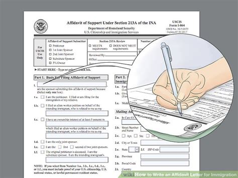 how to section a family member 3 ways to write an affidavit letter for immigration wikihow