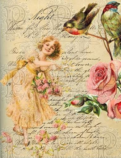 Free Decoupage Papers - 6 best images of vintage flowers decoupage printable
