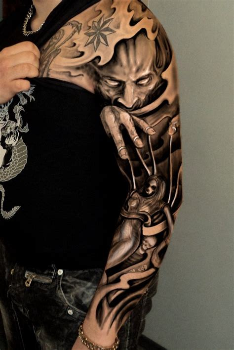 3d tattoo sleeve ideas japanese tattoo ideas for sleeve 3d chest tattoo 3d