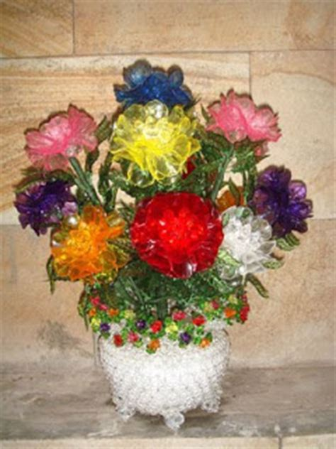 Bros Susun Warna Warni besthappycraft bunga dahlia dari manik manik akrilik