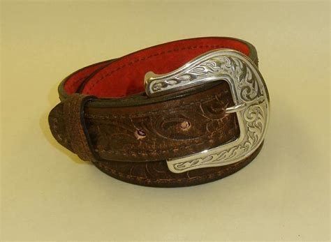 liberty scorched brown leather gun belt by flashbang