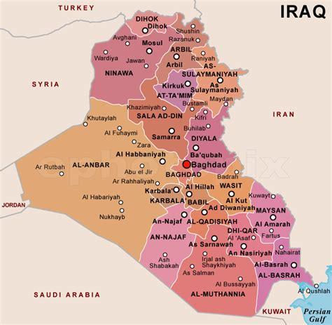 map of iraq cities iraq political map political map of iraq
