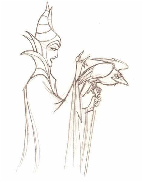free coloring pages of malificent