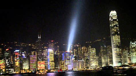 hong kong light hong kong skyline light