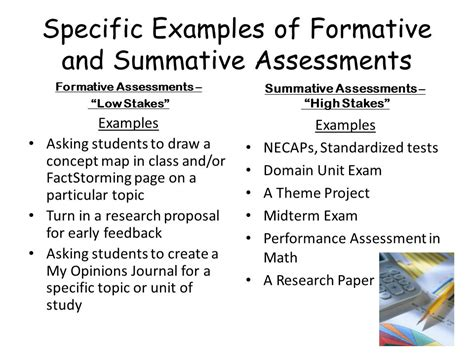 exle of formative assessment integration and differentiation of curriculum ppt