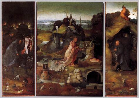 bosch le bosch hieronymus hermit saints triptych print
