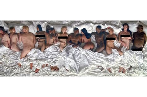 kanye west in bed kanye west talks quot famous quot with vanity fair hypebeast