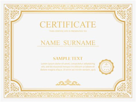 certificate border vector bachelor  science background