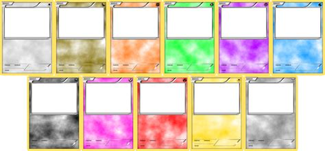 pokemon templates print blank card templates basic by levelinfinitum on