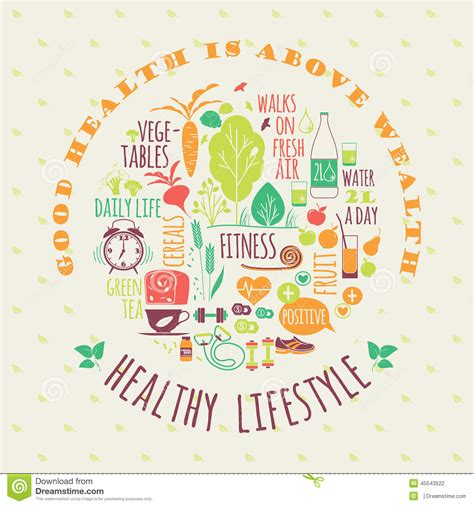 design is a lifestyle healthy lifestyle vector illustration stock vector