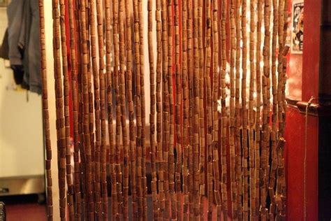 wine cork curtain curtains made with recycled wine corks recycled things