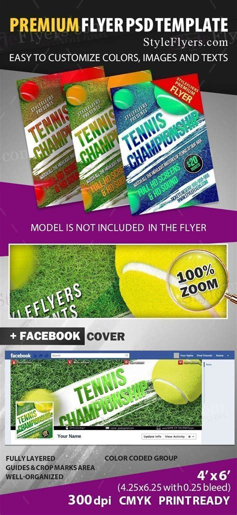 tennis flyer template free tennis chionship psd flyer template 16309 styleflyers
