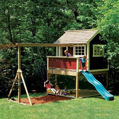 diy playhouse plans love the design we d do one more rustic than this tho