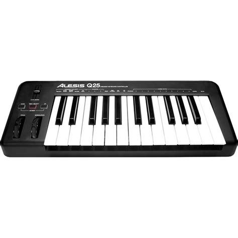 Usb Midi Keyboard Controllers alesis q25 usb midi keyboard controller q25 b h photo
