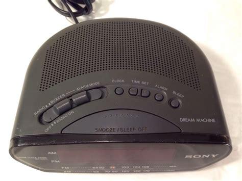 big display sony machine icf c211 am fm alarm clock radio digital digital clocks
