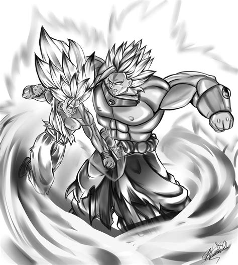 imagenes de goku a blanco brolly vs goku by ayvun123 on deviantart
