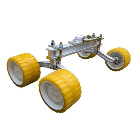 boat trailer quad rollers loadrite quad roller assembly with 3 quot x 5 quot yellow rollers