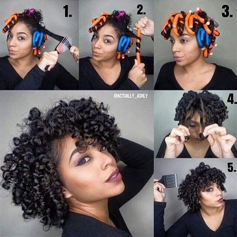 apply hairstyles to photo flexible rod set i love natural hair pinterest