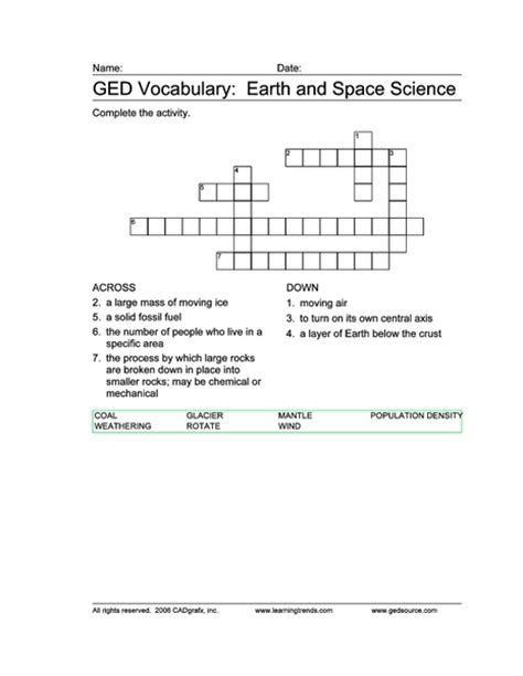 Earth Science Worksheets by Earth Space Science Vocabulary Pics About Space