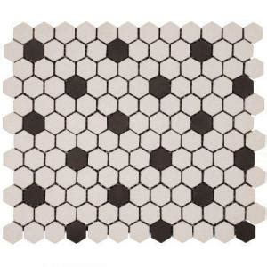 Merola Hex Bathroom Floor Mosaic Porcelain Tile from Home