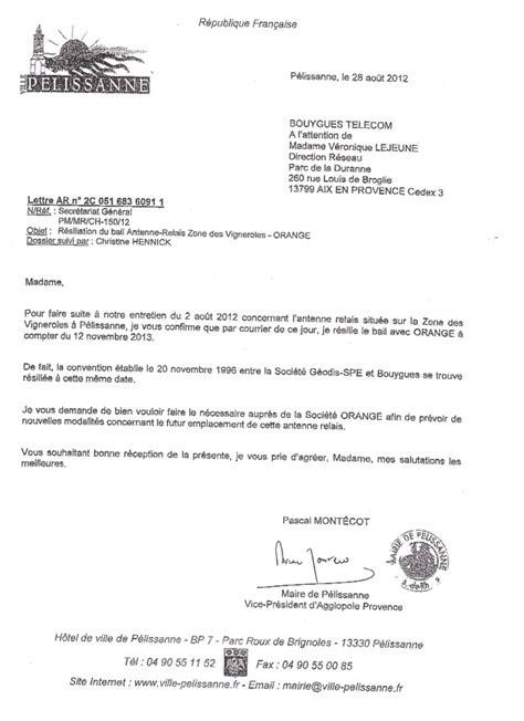 Lettre De Résiliation D Un Bail Commercial Lettre De Resiliation De Bail
