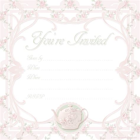 free tea party invitation template musicalchairs free tea party