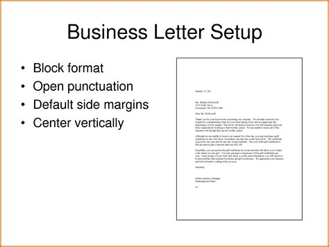 Business Letter Address Block how to set up a business letter format letter format 2017