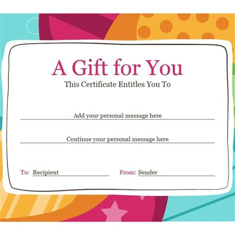 birthday gift card design template birthday gift certificate bright design office