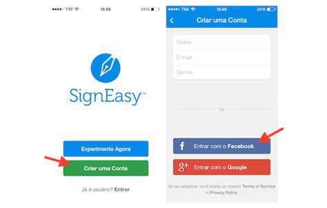 layout tela de login android como assinar documentos no smartphone android ou ios