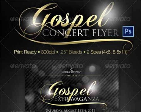 gospel meeting flyer template best free photoshop psd flyer templates freakify