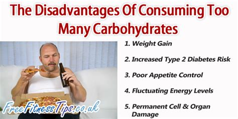 carbohydrates benefits the disadvantages of consuming many carbohydrates